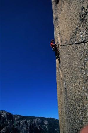 US National Parks: Rock climber, Yosemite National Park, California, USA