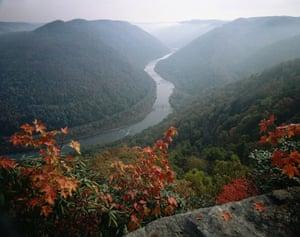 US National Parks: New River Gorge national park, West Virginia, USA