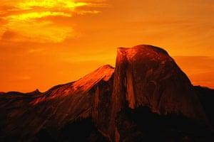 US National Parks: Half Dome at sunset, Yosemite National Park, California, USA