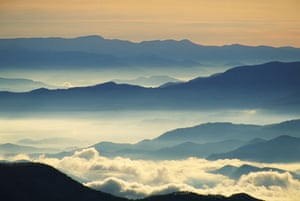 US National Parks: Mist in Great Smoky Mountains National Park, North Carolina, USA