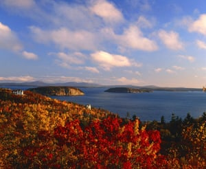 US National Parks: USA, Maine, Acadia National Park, coast in autumn