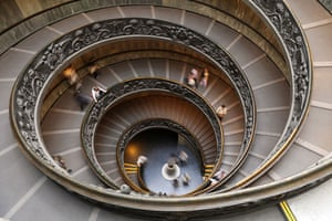 Earthbound images: Staircase at Vatican Museum, Rome