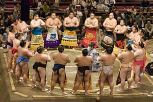 Earthbound images: Sumo wrestlers, Ryogoku, Tokyo, Japan