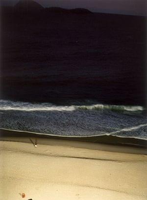 Raymond Depardon: Cities: Brazil, Rio de Janeiro, 2004: the beach at night