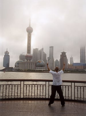 Raymond Depardon: Cities: China, Shanghai, 2004: View from the Bund of the Pudong area