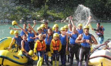 whitewater rafting in Slovenia's Julian Alps