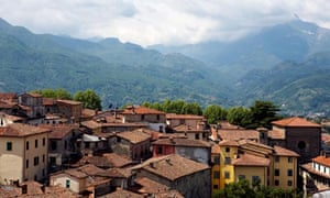 A view of the medieval hilltop town of Barga as seen from the Cathedral May 2006