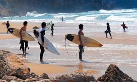 Surfers, Portugal