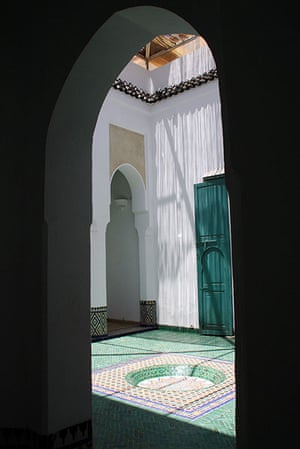 Been there: green: Green: Marrakech courtyard