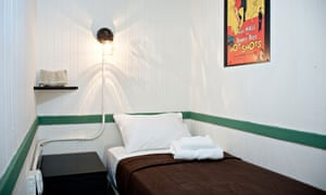 Bowery House hotel, New York, bedroom