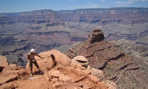 Shoveling in the Grand Canyon