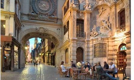Clock Rue du Gros Horloge, Rouen, Normandy France