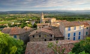 View over Bonnieux Luberon Region Provence