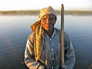 congo: A friendly one-eyed Bemba fisherman on the Luapula