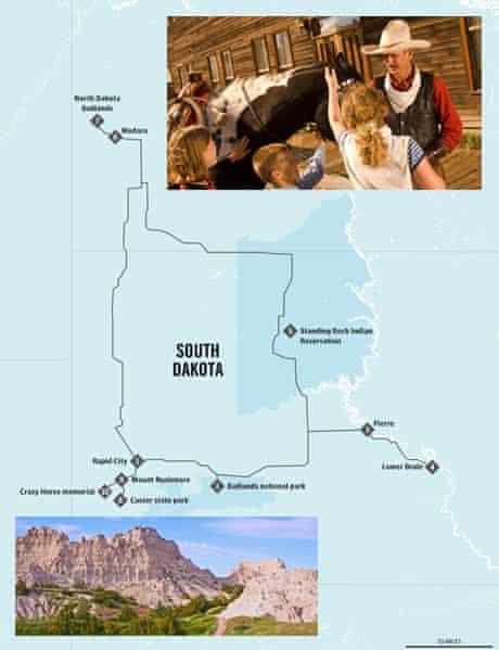 Dakota map