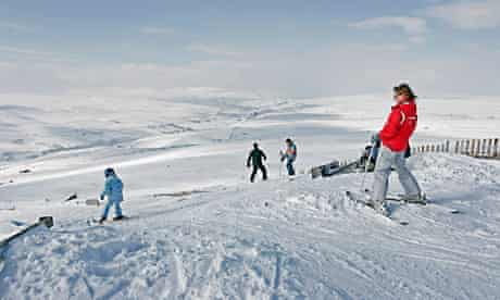 Skiing on Yad Moss in Cumbria.