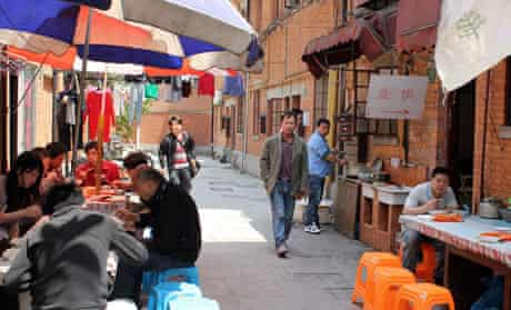 Food stall at Jing'an Villas, Shanghai