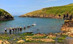 Coasteering at Port Quin, Cornwall
