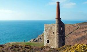 Restored engine house, Rinsey Head, Cornwall