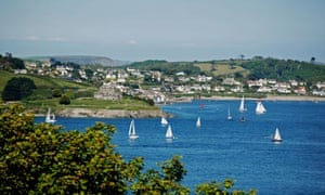 St Mawes and Falmouth Bay from Pendennis, Cornwall