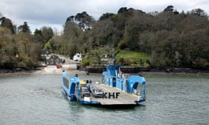 The King Harry ferry crossing the river Fal in Cornwall