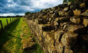 Hadrians Wall path at Gilsland, Cumbria