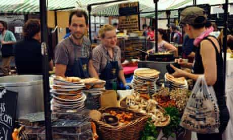 Broadway street market in the East End of London