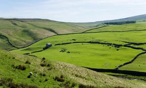 Countryside above Arncliffe in Wharfedale, Yorkshire Dales