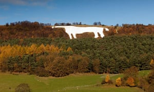 White Horse on the hillside near Kilburn on the Vale of York