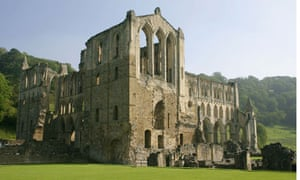 Rievaulx Abbey in Ryedale in the North York Moors