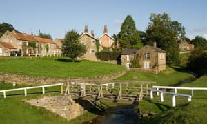 Hutton-le-Hole, Village green, UK, North Yorkshire