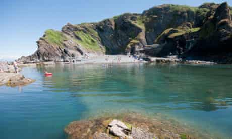The Tunnels Beach and rock pool at Ilfracombe north Devon