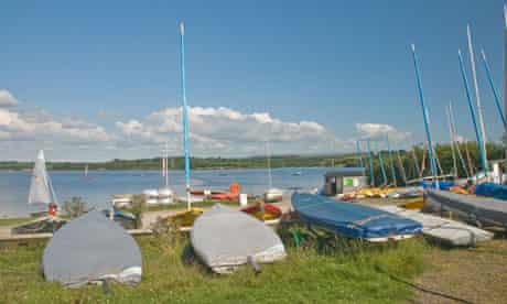 Roadford Sailing Centre with Roadford Lake behind