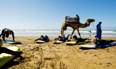 beginners are put though their paces at Taghazout, Morocco