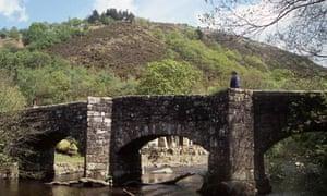 Fingle Bridge over the River Teign near Drewesteignton, Devon