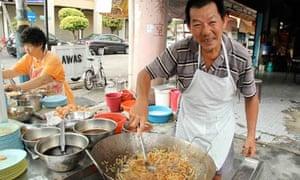 Char koay teow stall