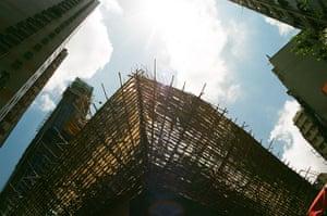 Hong Kong photoblogger: Bamboo scaffolding