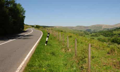 Looking north up the A701 near Moffat, Dumfries & Galloway, Scotland