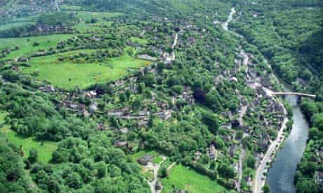 Aerial view of Ironbridge