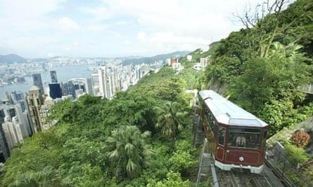 Hong Kong's famous Peak Tram