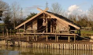 Long tailed lemur enclosure and lake Folly Farm Pembrokeshire
