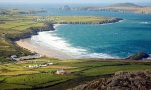 Whitesands Bay and Ramsey Island from Carn Llidi, St David's Head, Pembrokeshire