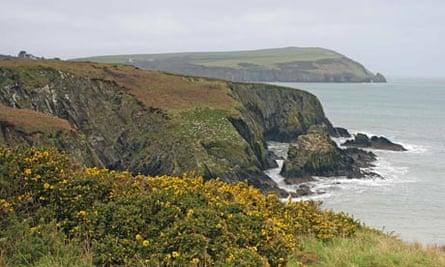 Dinas Head seen from Cwm Rhigian in Pembrokeshire