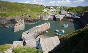 Porthgain harbour in Pembrokeshire, Wales