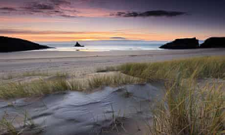 Broad Haven South - Winter Sunrise, Church Rock, Pembrokeshire, Wales, UK