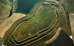 Aerial image of Maiden Castle