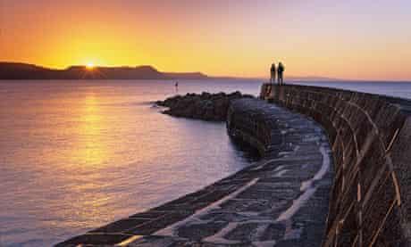 """""""The Cobb"""" sea wall at Lyme Regis, Dorset"""