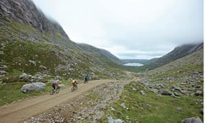 Descending to Loch Raonasgail, Isle of Lewis, on the Hebridean Trail
