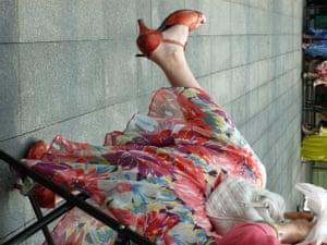 Woman's legs, London