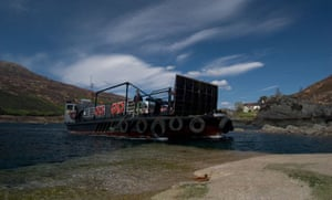 Glenachulish, world's last manually operated turntable ferry